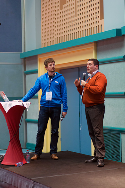 Nicolas Tricot and Christian Jennewein from BlaBlaCar at Scrumday 2015