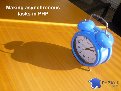 Asynchronous tasks in PHP